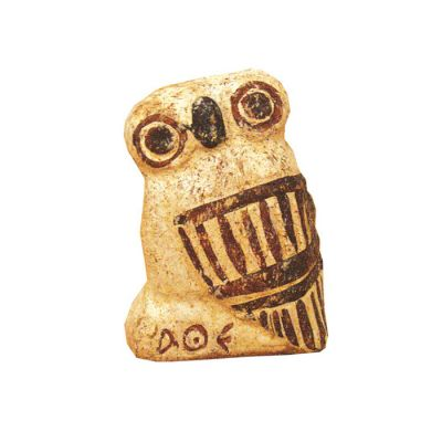 Owl, handmade clay, toys in Ancient Greece