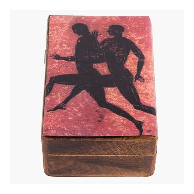 Stadion Race, Olympic Games, Wooden box with the depiction of the sport.
