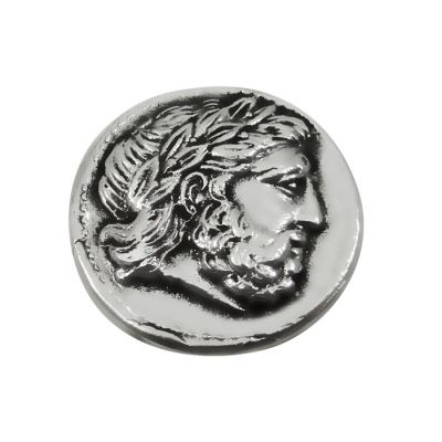 Silver Tetradrachm of Philip II of Macedon, Silver-plated copy of the coin.