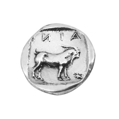 Silver Τetradrachm Coin of Ainos, Silver-plated Brass