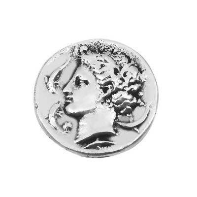 Silver Decadrachm Coin of Syracuse, Silver-plated Brass