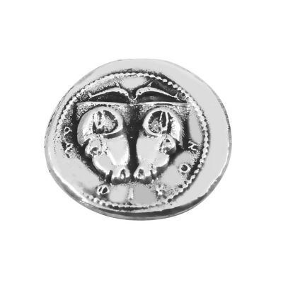 Silver Tridrachm Coin of Delphi, Silver-plated Brass