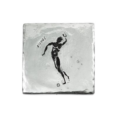 Discus, Olympic Games, Recycled Aluminum with patina of the depiction of the sport.