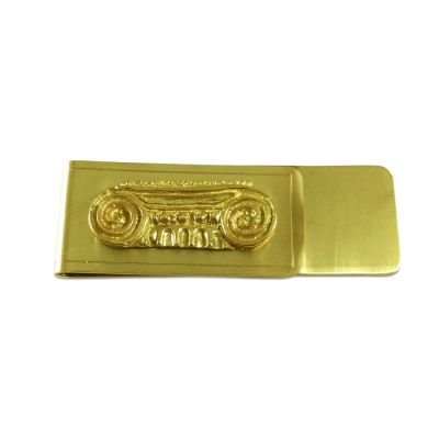 Ionic Capital solid brass money clip