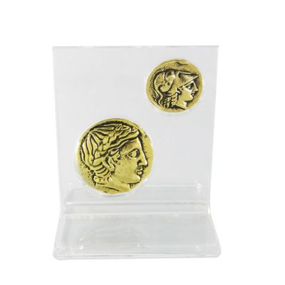 Gold Macedonian Staters, Set, Gold-plated Brass