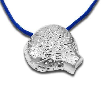 Κυκλαδικό Αστέρι Μινιόν Παντατίφ, Μασίφ Ασήμι 925° με μπλε κεροκορδόνι