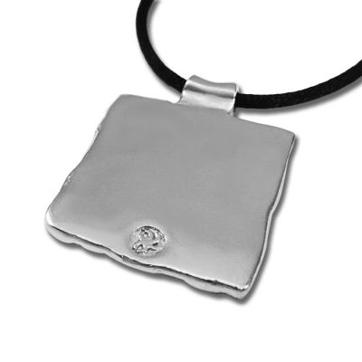 Spirals' silver-plated pendant, jewel stamp