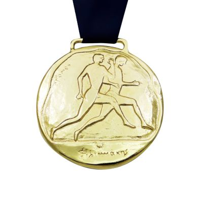 Stadion Race, Olympic Sport , gold-plated 24K bronze medal