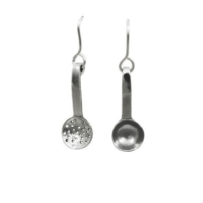 ScoopSilver Earring, handmade casted in solid silver 925°.