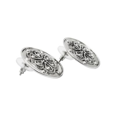 Rodax (Rosette), Earrings, Silver 925°