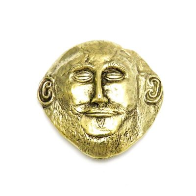 Agamemnon Mask, Paper Weight, handmade solid brasss.