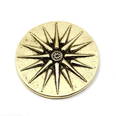 The Star of Vergina, Paper Weight, handmade solid brass.