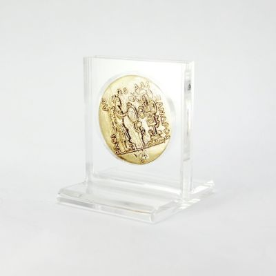 Alexander the Great, Gold Medal of Aboukir, Brass Gold-plated 24K in acrylic case