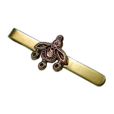 Tie clip with the ''Bees'' of the gold jewel of Malia, in Crete, handmade brass