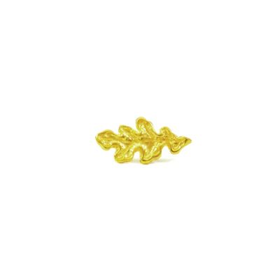 Oak Leaf Cufflinks, Gold-plated 24K solid brass NICKEL FREE