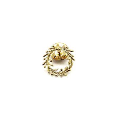 Olive Wreath Pin. Handmade in solild brass.