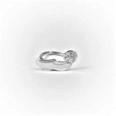 Tsarouchi silver ring. Handmade solid silver.