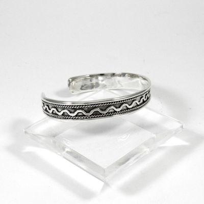 Roumi bracelet, Solid silver 925° handmade