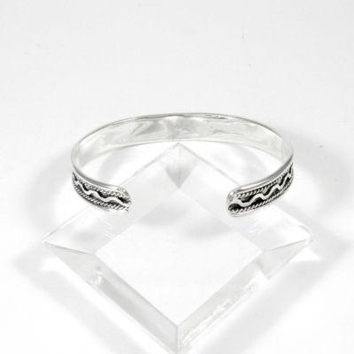 Waves bracelet, Solid silver 925° handmade