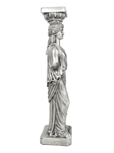 Caryatid, Sculpture made of resin, coated in copper and plated in silver solution 999°.